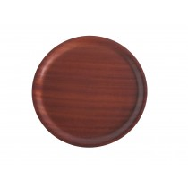 Mahogany Round Wood Tray