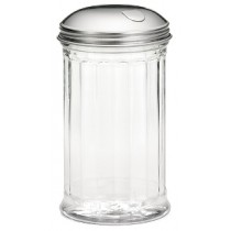 GLASS JAR, W/ SIDE FLAP STAINLESS STEEL TOPS